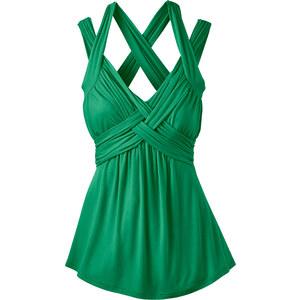 BODYFLIRT boutique Shirt ohne Ärmel in grün für Damen von bonprix