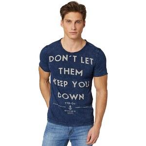 TOM TAILOR DENIM T-Shirt »indigo look roundneck tee«