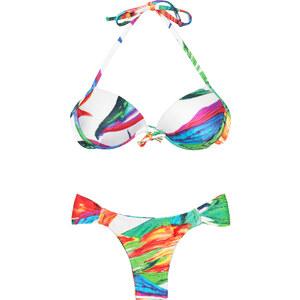 Lua Morena Bikini Balconnet Push Up Multicolore, Bas Fixe - Acquerello Iate