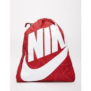 Nike - Heritage - Gymnastikbeutel mit rotem, geometrischem Muster