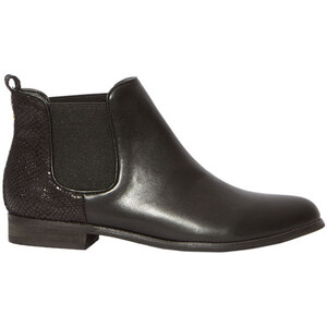 Etam Bottines chelsea effet serpent brillant