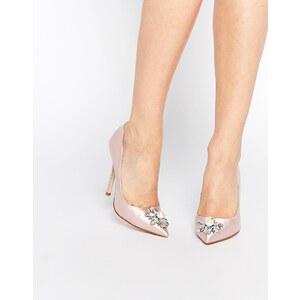 ASOS - PRICELESS - Chaussures pointues ornementées à talon haut - Rose
