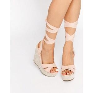 ASOS - HEARTFELT - Chaussures compensées pointure large - Beige