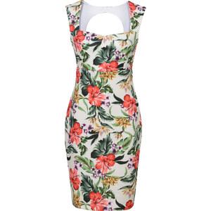 BODYFLIRT boutique Kleid kurzer Arm in weiß von bonprix