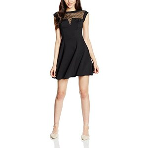 New Look Damen Kleid Lace Front Scuba Skater