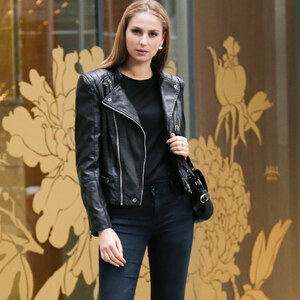 Lesara Veste imitation cuir look biker