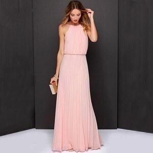 Lesara Maxi-Abendkleid mit Ketten-Träger - Rosa - S