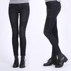Lesara Jeans slim avec inserts côtelés