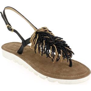 Soldes - Sandales et nu-pieds Lazamani 33.560 Noir Femme