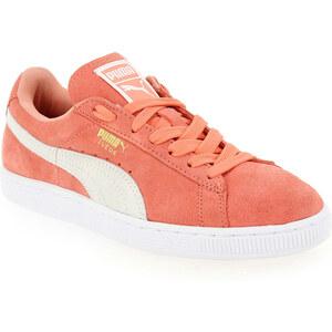 Soldes - Baskets mode Puma SUEDE CLASSIC Orange Femme