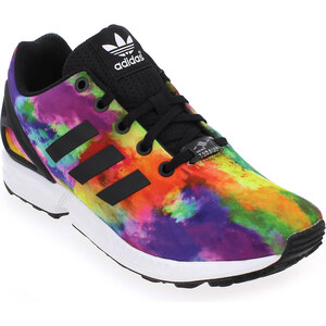 Baskets mode Adidas Originals ZX FLUX Multi pour Enfant fille en Textile - Promo