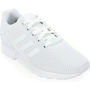 Soldes - Baskets mode Adidas Originals ZX FLUX Blanc Enfant fille