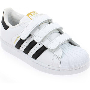 Baskets mode Adidas Originals SUPERSTAR CF Blanc pour Enfant fille