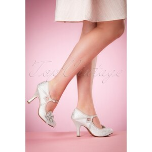 Ruby Shoo 50s Cindy Pumps in Silver
