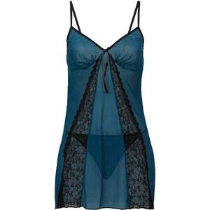 Nuisette + string (Ens. 2 pces.) bleu lingerie - bonprix