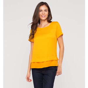 C&A Kurzarmbluse in Orange