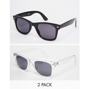 ASOS - Lot de 2 lunettes de soleil rétro - Multi