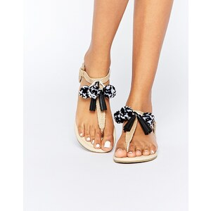 ASOS - FRUIT LOOP - Sandalen mit Bommeln - Natural