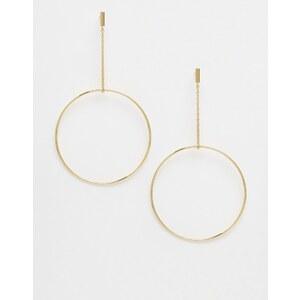 Orelia - Boucles d'oreilles avec chaîne et anneau - Or pâle