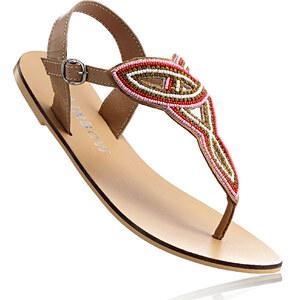 RAINBOW Sandales cuir marron chaussures & accessoires - bonprix