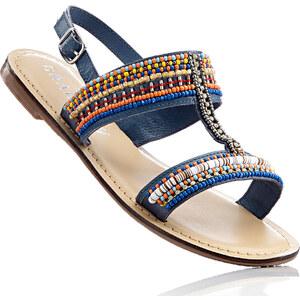 RAINBOW Sandales cuir bleu chaussures & accessoires - bonprix
