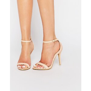 Glamorous - Barely There - Sandalen in rosa Schlangenleder-Optik - Nude
