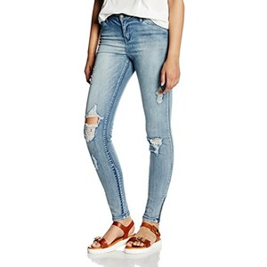 VERO MODA Damen Jeanshose Vmseven Nw Sl Zip Ankl Jeans Ct371 Wp 2