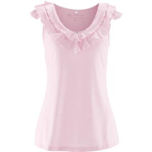 bpc selection Shirttop mit Ziersteinen in rosa für Damen von bonprix