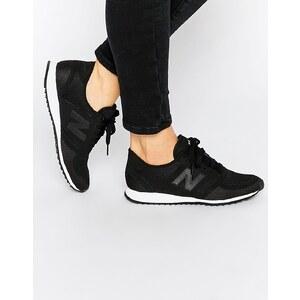 New Balance - 420 - Baskets en tulle - Noir et blanc - Noir