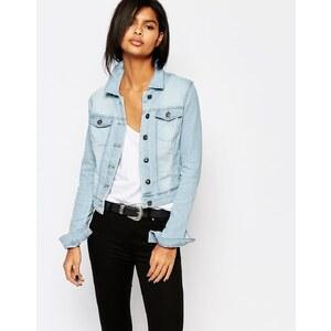 Vero Moda - Veste en jean clair délavé - Bleu délavé clair