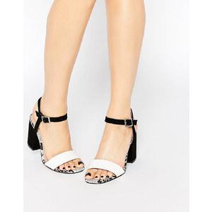ASOS - HOLLOWAY - Sandales larges à talons - Noir