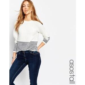ASOS TALL - Pullover mit Wellenmuster und Streifen
