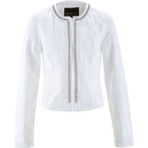 bpc selection Veste en jean blanc manches longues femme - bonprix