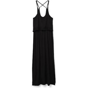 MANGO Langes Kleid Mit Volant