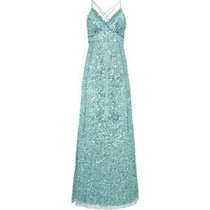 Mariposa Abendkleid mit Muster aus Zierperlen und Pailletten