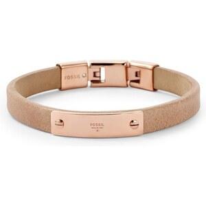 Fossil Bracelet Vintage Iconic cuir JF01693791 - Bijou pour Femme Fossil en Acier doré rose