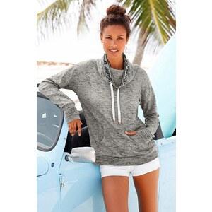 Bench Sweatshirt mit Schalkragen