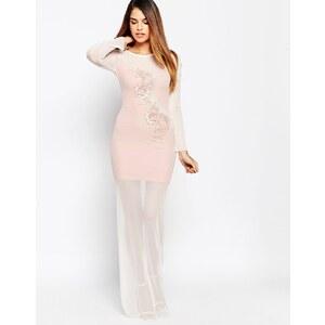 TFNC - Maxi robe avec détail appliqué - Rose