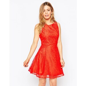 Love - City - Robe en dentelle - Rouge