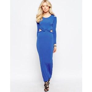 Glamorous - Robe longue manches longues avec découpes - Bleu royal