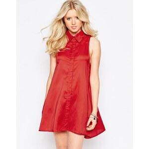 Glamorous - Robe chemise sans manches - Orange