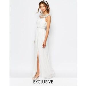 TFNC - Robe longue de mariée avec ornements - Blanc