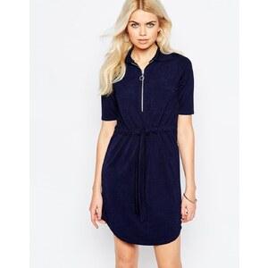 Daisy Street - Robe chemise zippée - Bleu marine