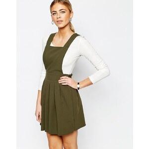 Love - Robe courte chasuble ajustée - Vert