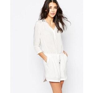 See U Soon - Robe chemise à col ornementé - Blanc