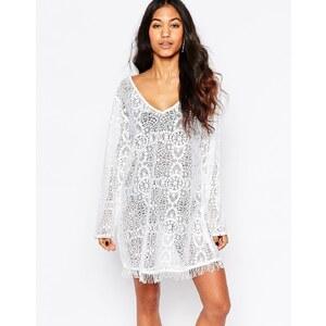 Anmol - Robe de plage au crochet - Blanc