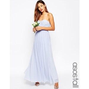 ASOS Tall ASOS WEDDING - Multifunktions-Maxikleid aus Netzstoff - Blau