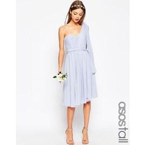ASOS TALL WEDDING - Robe mi-longue multiposition en tulle - Bleu