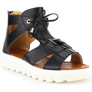 Sandale Noire PETCH Fashion - Cendriyon