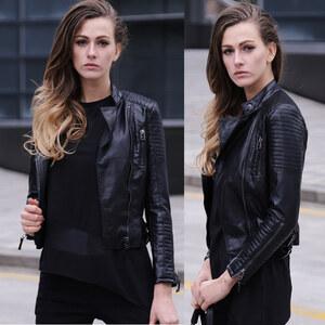 Lesara Veste courte imitation cuir